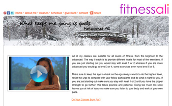 fitnessali.com - features content management system (CMS)