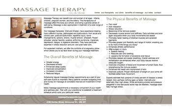massagetherapyondunbar.com - simple and elegant website that uses jQuery to add specific interest