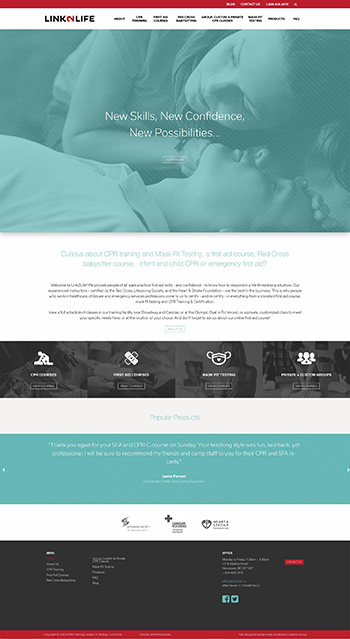link2life.ca - as part of Kennedy Anderson Creative Group, custom WordPress theme